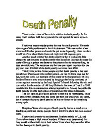 Essay about  anti death penalty