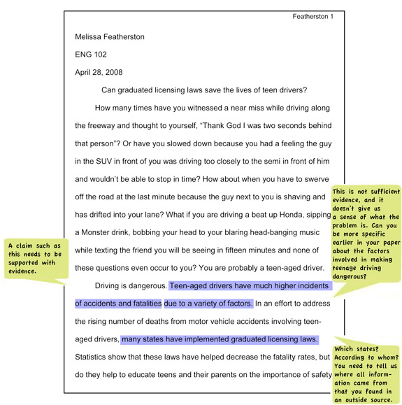 Example Of Essay Written In Apa Format