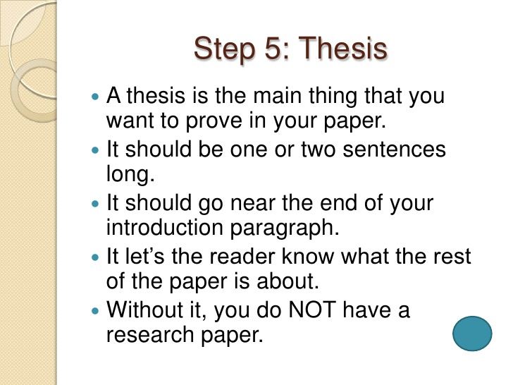 what is the thesis of a research essay